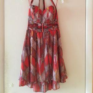Guess Red Halter Dress
